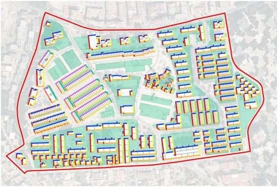 New method to estimate the energy efficiency of entire neighborhoods