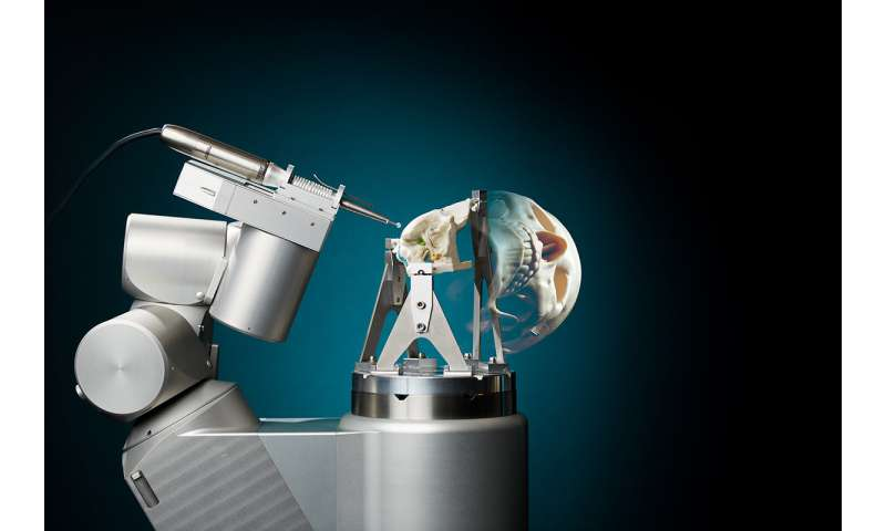 New robot for skull base surgery is very accurate and alleviates surgeon's workload