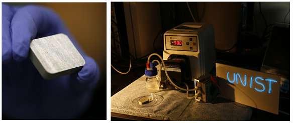 Novel catalyst for high-energy aluminum-air flow batteries