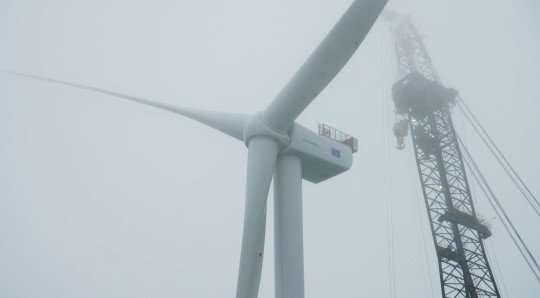 Offshore wind farm: First of 11 turbines goes up in Scotland initiative
