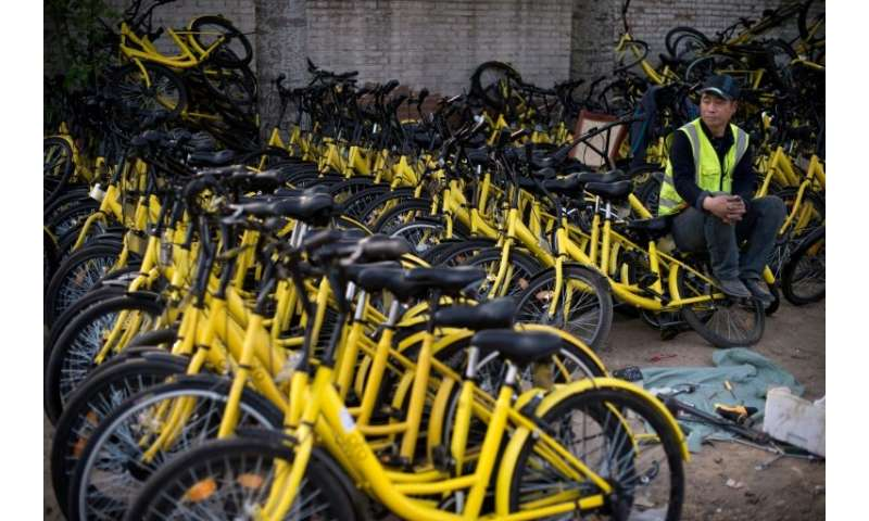 Ofo's lemon-yellow bicycles are ubiquitous in Chinese cities
