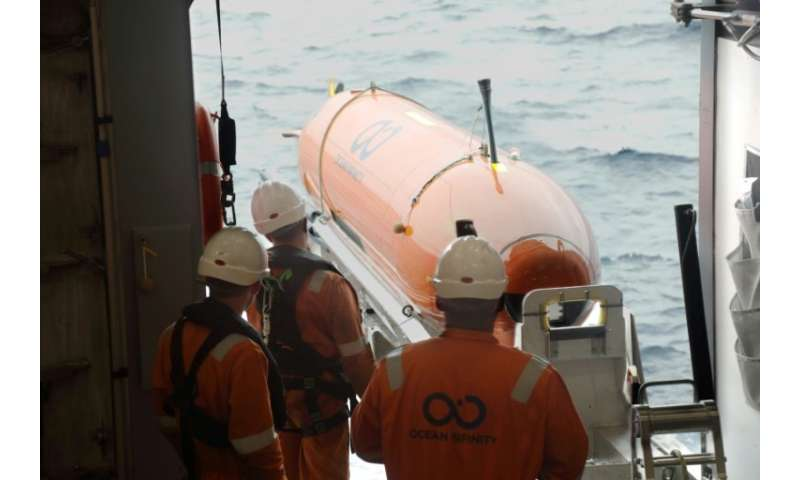 One of the eight autonomous underwater vehicles being used in the latest hunt for missing Malaysia Airlines flight MH370