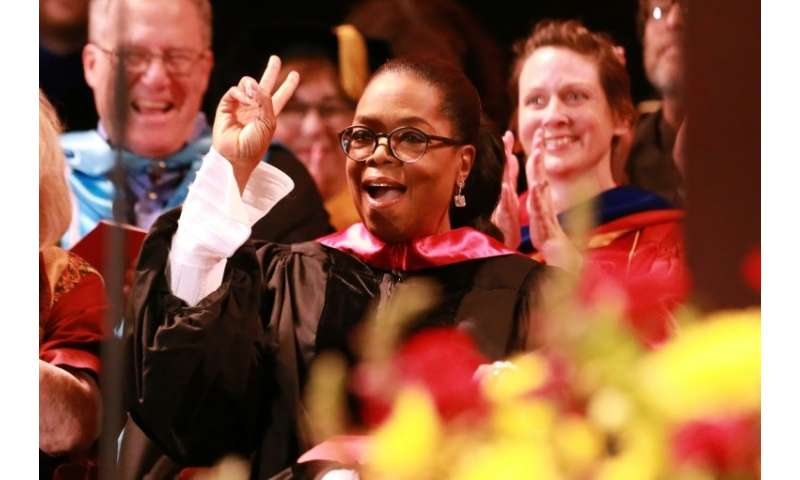 Oprah Winfrey, seen addresssing the USC Annenberg School for Communication and Journalism commencement ceremony in May, has agre