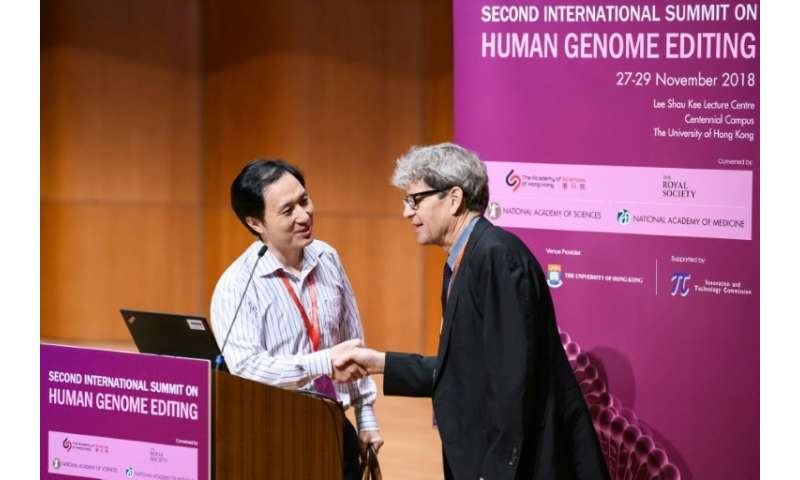 "Organisers of the Second International Summit on Human Genome Editing denounced He Jiankui's ""unexpected and deeply disturb"