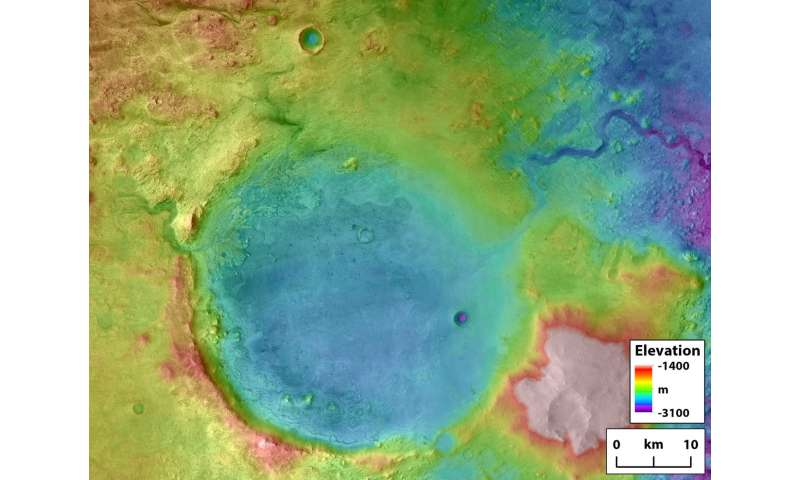 Overflowing crater lakes carved canyons across Mars