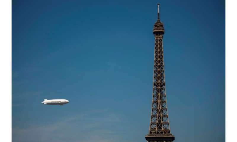 Paris used an airship in 2014 to measure air pollution