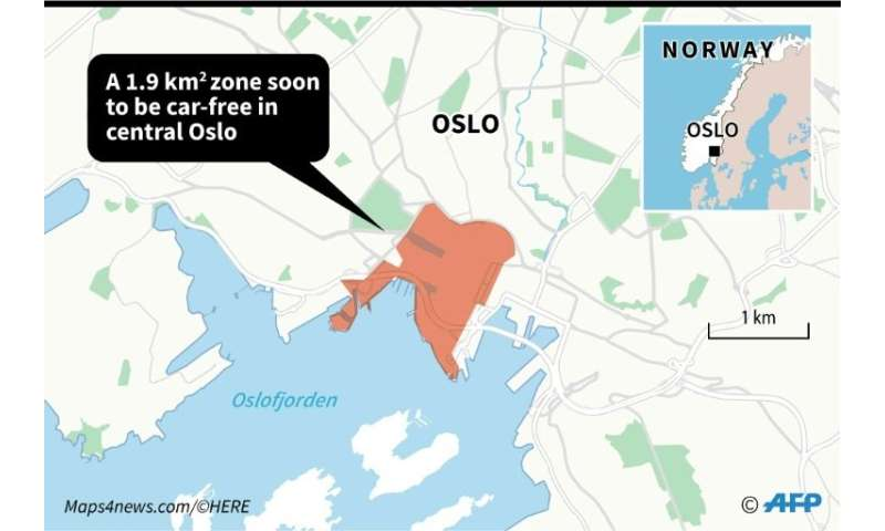 Part of central Oslo to go car-free