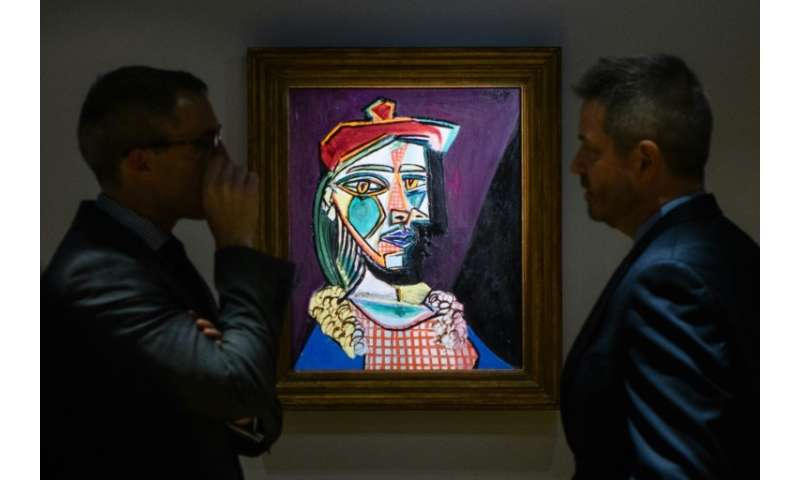 """Picasso's """"Femme au beret et a la robe quadrillee (Marie-Therese Walter)"""" will go under the hammer on February 28 afte"""