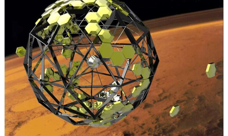 Plans for a modular Martian base on that would provide its own radiation shielding