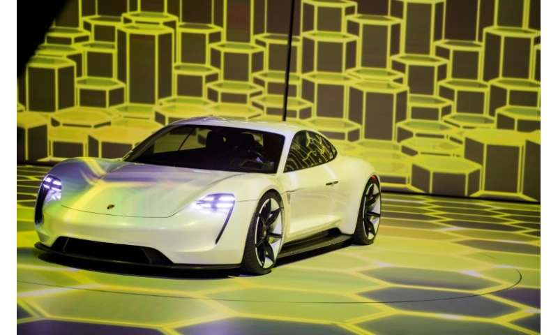 Porsche's flagship Mission E electric sports car is scheduled to hit the roads in late 2019