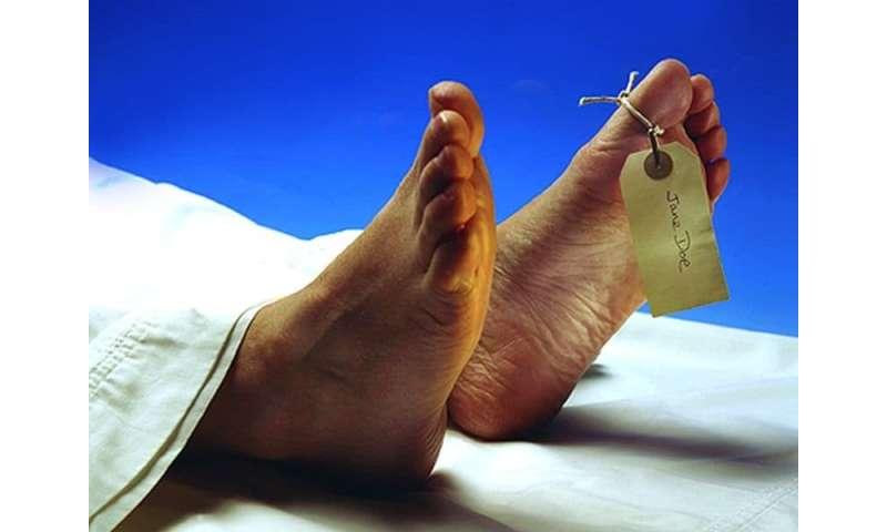 Postmortem cardiac implantable device interrogation useful