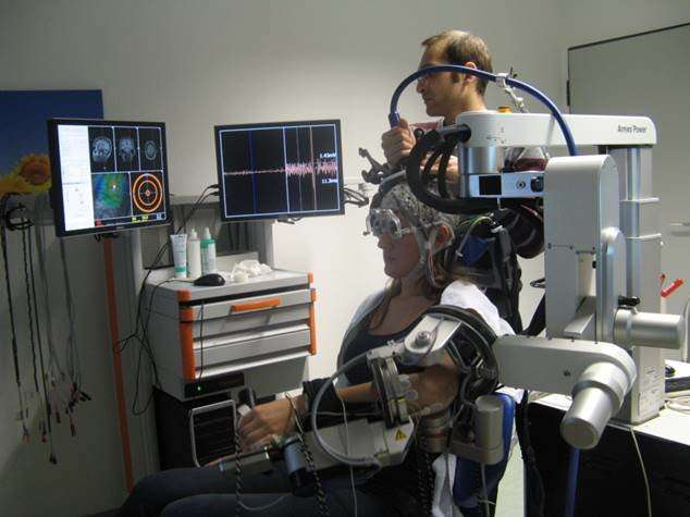 Potential brain-machine interface for hand paralysis