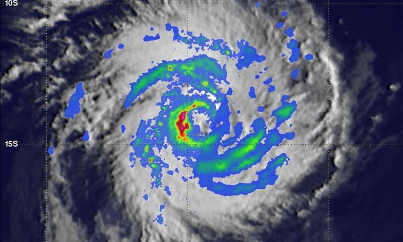 Powerful tropical cyclone irving examined with GPM