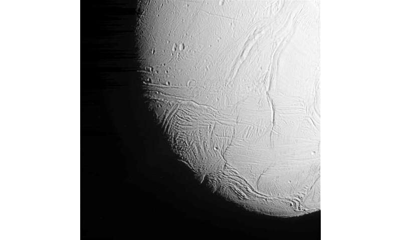 Previous research has suggested that Enceladus sports an ocean of liquid water—a key ingredient for life—beneath its icy surface