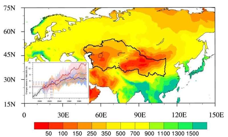 Projecting climate change along the Millennium Silk Road in a warmer world