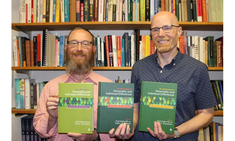 Psychology professors' book on personality sets 'new standard' in the field