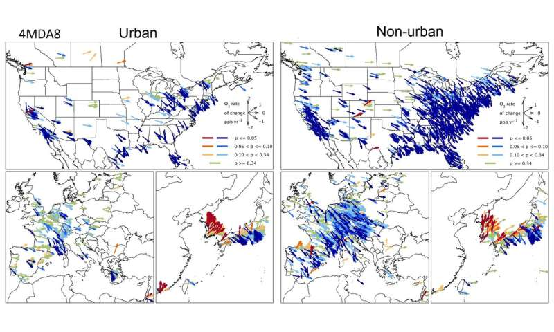 Research on global surface ozone levels shows populations most affected by air pollution