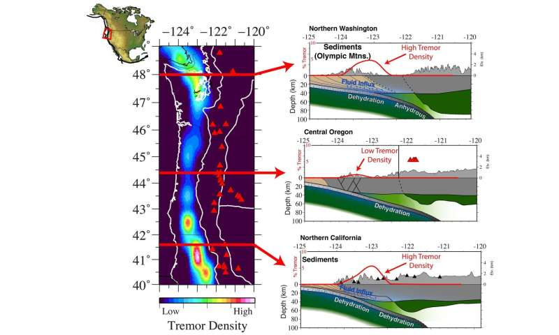 Rice U. scientists uncover relationship between tremors, water at the Cascadia margin