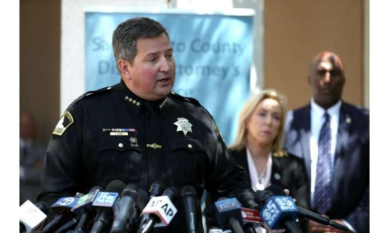 Sacramento County Sheriff Scott Jones announces the arrest of DeAngelo, who investigators traced using a public genealogy websit