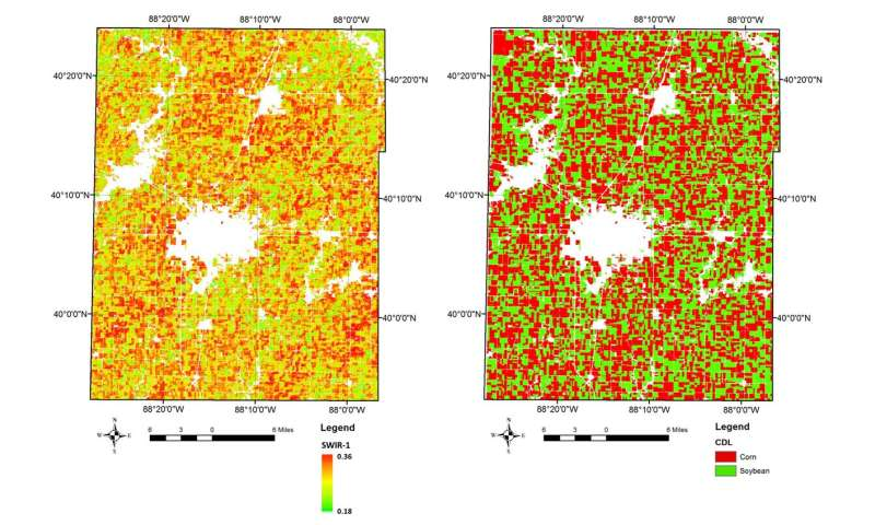Satellites, supercomputers, and machine learning provide real-time crop type data