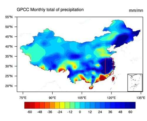 Scientists find culprits for extreme rainfall over Yangtze River in May 2016