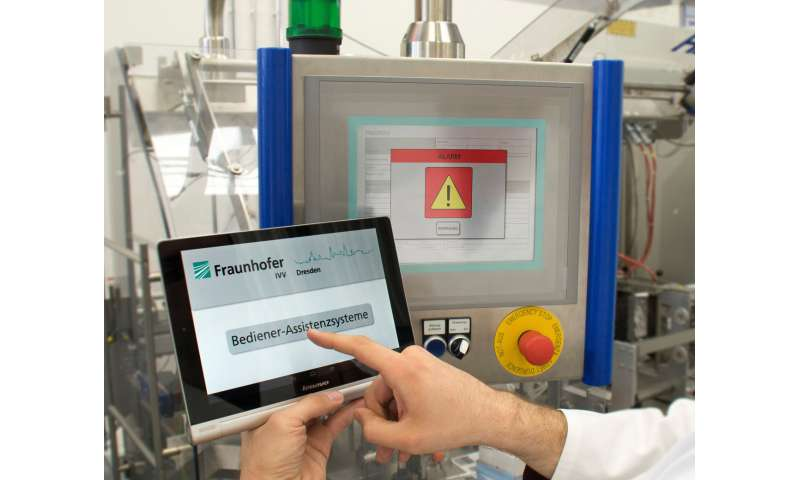 Self-learning assistance system for efficient processes