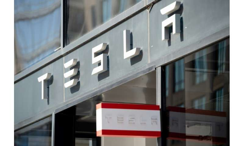 Shares in electric car maker Tesla leapt in after-market trades following the company's quarterly earnings report