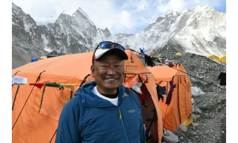 Sherpa Ang Tshering Lama—one of Everest's dying breed of experienced guides—at the mountain's base camp