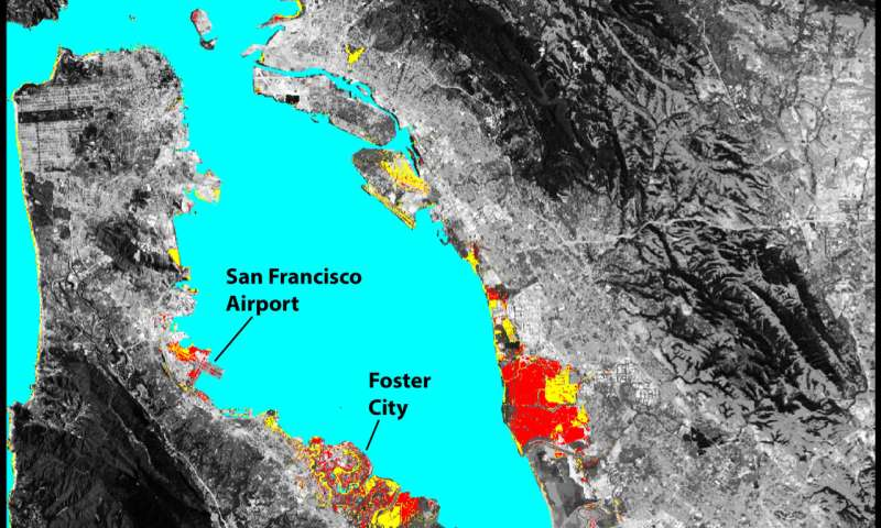Sinking land will exacerbate flooding from sea level rise in Bay Area