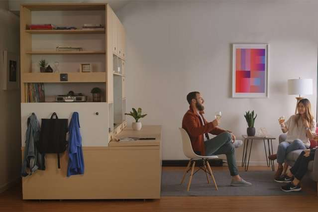 Smart furniture transforms spaces in tiny apartments into ...