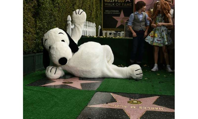 Snoopy gets a star on the Hollywood Walk of Fame