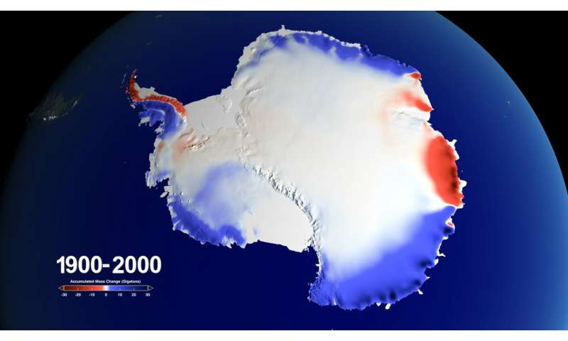Snow over Antarctica buffered sea level rise during last century