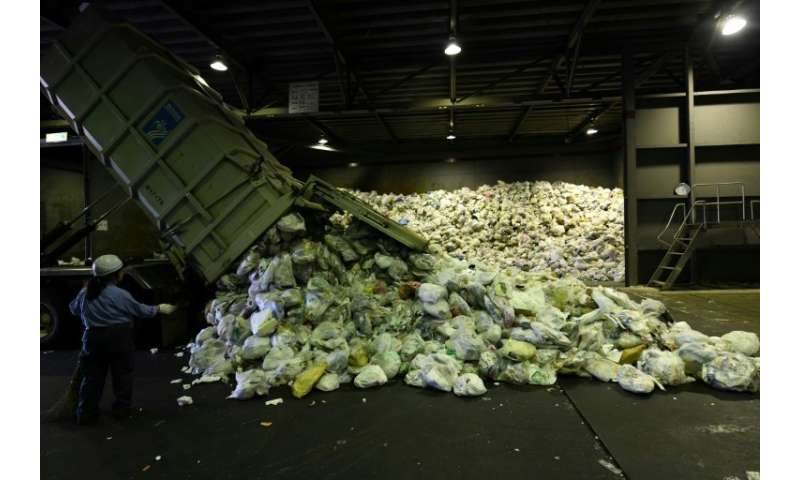 Some 10 tonnes of recyclable plastics are brought in every day to be processed at the Ichikawa Kankyo Engineering centre