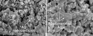 Stabilizing silver films for high-efficiency fuel cells