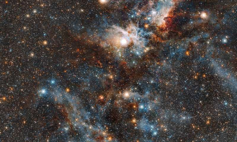 Stars vs. dust in the Carina Nebula