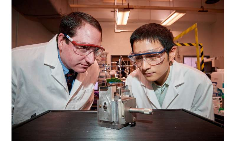 Strain improves performance of atomically thin semiconductor material