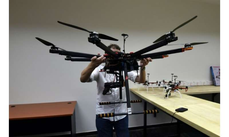 Students at CIE's academy are taught how to assemble and maintain drones as well as learning to pilot the unmanned aircraft