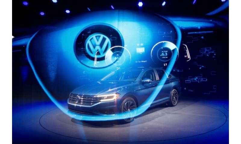 The 2019 Volkswagen Jetta R-Line is introduced during the 2018 North American International Auto Show in Detroit
