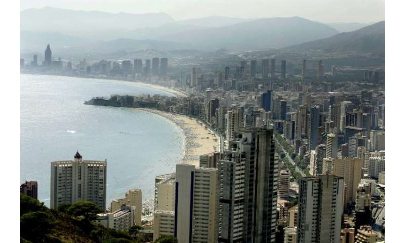 The amount of coastal land that has been built on in Spain has more than doubled since 1988