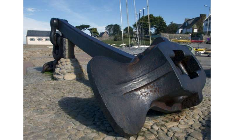 The anchor of the Amoco-Cadiz lies at the entrance of Portsall harbour
