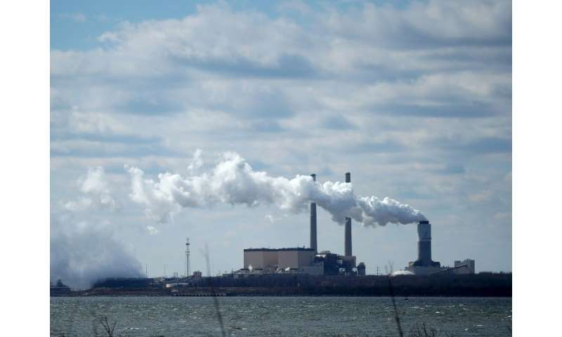 The Brandon Shores Generating Station, a coal-fired power plant near Baltimore, seen on March 9, 2018