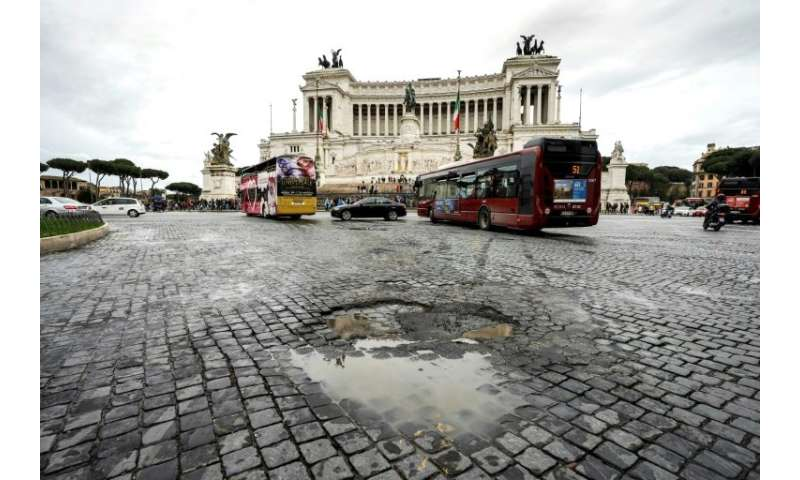 The busy streets of Rome found to have the lowest road safety rating in a Greenpeace report