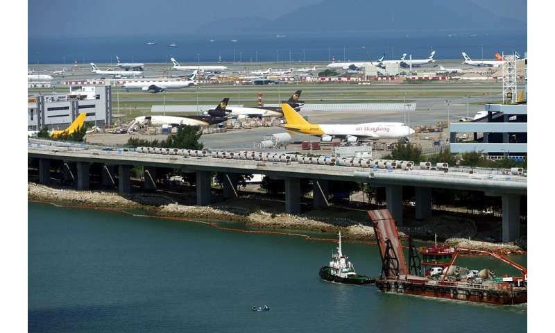 The cause of low-level turbulence around Hong Kong International Airport