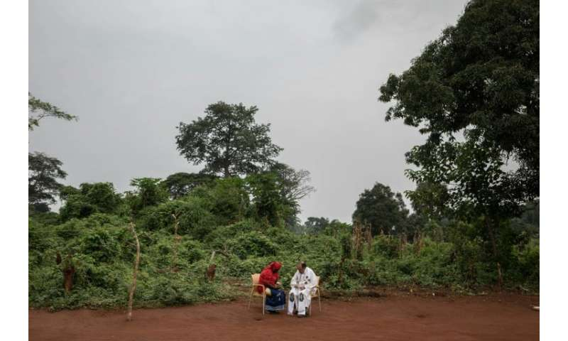 The Congo Basin forest straddles Democratic Republic of Congo, the Republic of Congo and Gabon
