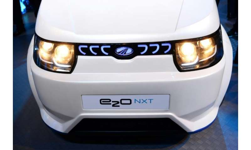 The e2o NXT from Mahindra Electric, which is the only company producing electric vehicles in India