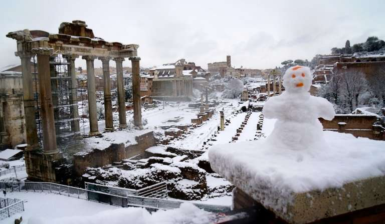 The Forum in Rone on February 26, 2017. Not for the first time in recent years, Europe has descended into a deep freeze while th