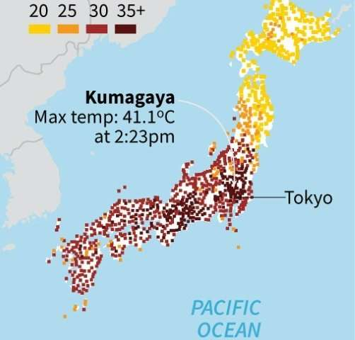 Unprecedented' Japan heatwave kills 65 in one week
