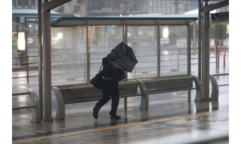 The Japanese weather agency has warned of record winds