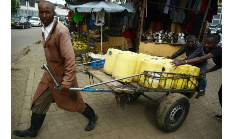 The lack of running water in Kenya's poorest neighbourhoods has meant a living for Samson Muli, a water seller in Nairobi's Kibe