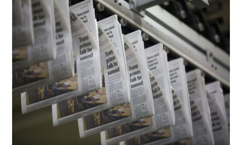 "The loss of local newspapers across the United States has led to what researchers call an expanding ""news desert"" with"